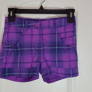 Nike Golf, Purple/Teal Shorts, Girls Size M